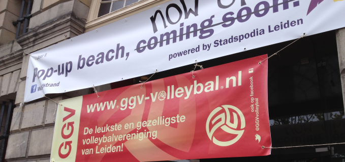 Beachvolleybal in monument