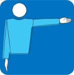 Scheidsrechtertekens-team-dat-de-service-krijgt